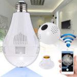 Оригинал E27 360 ° 1.3MP 2MP 3MP WIFI Скрытый IR камера Светодиодный Лампа для безопасности CCTV
