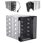 "Оригинал 5.25 ""to 5x 3.5"" SATA SAS HDD Cage Rack Hard Drive Tray Caddy Converter с пространством вентилятора"
