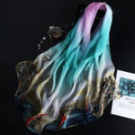Оригинал Женское Летняя мода Шелковый шарф Ultra Printting Shawl