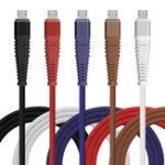 Оригинал Bakeey Hi-Tensile Micro USB-кабель Плетеный кабель для зарядки данных 1M Для Xiaomi Redmi 5 Plus Примечание 4X 5