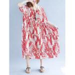 Оригинал Женское Хлопок A-line Loose Maxi Платье