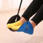 Оригинал Переноснаяподставкадляногнаногах для переноски ног Гамак для отдыха Регулируемый полет для поезда в полете Самолет для н