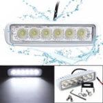 Оригинал 12V 6 LED Разбрасыватель морской наводнения Белый свет для Лодка Яхта мотоцикл Грузовик Авто