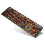 Оригинал K70 104Keys RGB LED Подсветка Punk Keycap Gaming Клавиатура USB Проводной Круглый Keycap