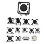Оригинал Всего 1200pcs Tactile Tact Mini Push Button Switch Micro Switch Switch Сумки 12 типов Каждый 100шт SMD / 2/3 / Боковые штырьки / Горизонтальные