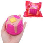 Оригинал Cute Cake Squishy 8 CM Медленный рост с подарком коллекции упаковки Soft Toy