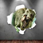 Оригинал MiicoТворческий3DдинозавровПВХсъемный домашний номер Декоративный настенный декор наклейки