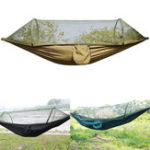 Оригинал IPRee®НаоткрытомвоздухеКемпингАвтоматическая открытая палатка для гамака Nylon Парашютный висячий свинг-кровать Москитная сетка