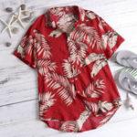 Оригинал МужскиепальмыПечатьГавайскийстильCasual Пляжный Рубашки