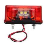 Оригинал 24V4SMDкрасныйАвтоЗадняя номерная лицензия Пластина Свет Лампа для грузового прицепа Грузовик