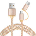 Оригинал Bakeey 2 in 1 Type-C Micro USB Sync Charge Data Cable для Samsung Xiaomi HUAWEI