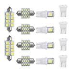 Оригинал 14шт. T10 LED Авто Интерьер Dome Лампа для чтения ламп Набор Лицензия на крышу Пластина Лампа