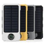 Оригинал 30000mAh Солнечная Зарядное устройство для системы управления DIY Чехол Водонепроницаемы с 2 USB и Dual LED Фонарик