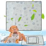 Оригинал 1штPetCoolingMatСобакаПодушка для прохладной кровати Крытый Летний теплоотвод Подушка Гель Pad Seat