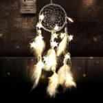 Оригинал HandmadeDreamCatcherСетьсперьями Бусины настенные украшения украшают звезды String Lights Dream Catcher DIY Украшения Инновационные подарки Вет