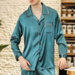 Оригинал Имитация Silk Spring Summer Soft Lounge Home Sleepwear Suit