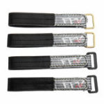 Оригинал 2Pcs RJX FPV AF 220x20mm 3M Волоконно-черная пластиковая / металлическая пряжка Батарея Ремни