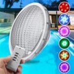 Оригинал 54W Нержавеющая RGB 18 LED Плавание Бассейн Свет Водонепроницаемы Дистанционное Управление Настенный ночной свет