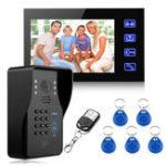 Оригинал Проводной 7Inch LCD Пароль Видео домофон домофон домофон камера RFID Карточка