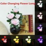 Оригинал RGB Цвет Изменение LED Волоконно-оптическая цветочная ваза Таблица Лампа Ночной свет Домашний декор