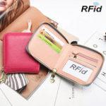 Оригинал RFIDЖенскоеНатуральнаяКожаКороткаякошелек Bifold
