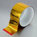 Оригинал Золотая лента Отражающая тепловая адгезивная лента Алюминиевая фольга Защита рулона Высокая производительность