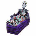 Оригинал KCASAЧерепНадувныеCoolerСкелетНапитки Ice Bucket Halloween Party Supply Украшения для Рождественских Украшений На открытом воздухе Посуда П