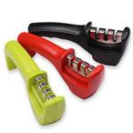 Оригинал Красный / Зеленый / Черный 3 в 1 Быстрый трехступенчатый профессиональный ручной токарный нож для шеф-повара Hone Hone