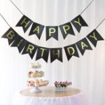 Оригинал 1 SET Бумага С днем ​​рождения Party Bunting Banner Letter Hanging Pastel Розовый String Flags Party Decorations