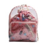 Оригинал 2PCS Transparent Backpack Double layer Mini School Bags