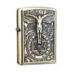 Оригинал IPRee®МеталлическаякеросиноваязажигалкаВинтажТисненый перезаправляемый зажигатель Starter Constantine Retro Lighter
