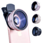 Оригинал APEXEL 37 мм Профессиональный HD 0,45X Ultra Wide Angle 12,5X Macro камера Объектив для Смартфон