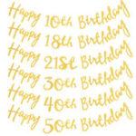 Оригинал TwinkleСДнемрожденияБаннерГарленд Возраст Висячие Золотые Буквы Украшения Баунтин Флаги Garland De