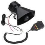 Оригинал 12V 3 Звукозапись Авто Полицейская сирена Horn + Mic PA Динамическая система Fire Alarm