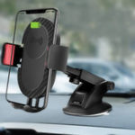 Оригинал 5W Qi Беспроводная зарядная присоска Long Arm Stretchable Авто Держатель для iPhone сотового телефона