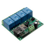 Оригинал DC5V ESP8266 Четырехканальный Wifi Реле IOT Smart Home Phone APP Дистанционное Управление Switch