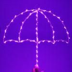 Оригинал LedUmbrellaМоделированиежелезаЛампаДекоративные настенные вешалки Ночные огни Горячий продающий зонт Лампа На стене LED Ночно