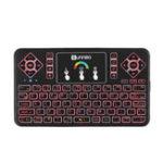 Оригинал SUNNZO Q9 Air Мышь Испанская версия Беспроводная связь Colorful Сенсорная панель с диагональю 2.4 ГГц Mini Клавиатура