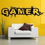 Оригинал ДекоративныестеныДекоративныевиниловыенаклейкиMural Decal Gamer Word Game Домашний декор Детская комната Стены Стикеры Большой Бол