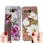 Оригинал Bakeey3DРельефнаяпечатьЦветыи птицы Soft Защитный Чехол для Samsung GalaxyS8Plus