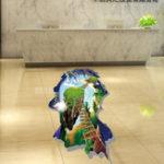 Оригинал MiicoCreative3DSkyЛестницаОстров Дельфин ПВХ Съемная комната для дома Декоративные настенные наклейки Декор стены