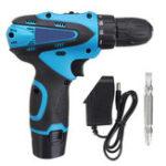 Оригинал 12V аккумуляторная Отвертка Cordless Дрель Драйвер питания Дрель Dual / Single Speed