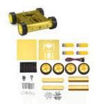 Оригинал 4WD Приводная золотая алюминиевая мобильная платформа для роботов DIY Набор для Arduino UNO