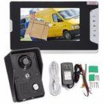 Оригинал 7inch LCD Video Doorbell Intercom IR камера Монитор Ночное видение Главная Безопасность