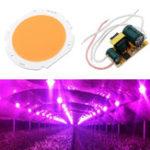 Оригинал 20W LED COB Round Grow Light Chip DIY с AC90-240V Источник питания для внутреннего использования Растение Цветок