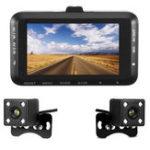 Оригинал 3.0inch 1080P Dual Объектив камера мотоцикл Видеорегистратор Dash Cam Video Recorder Ночное видение