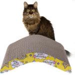 Оригинал Кот Гофрированный щит для досок для царапин Прочный двухсторонний патч Scratcher Pet Mat Claws Care Interactive