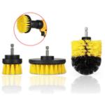 Оригинал Drillpro 3Pcs 2 / 3.5 / 4 дюймов Желтый электрический Дрель Щетка Плиточный затирочный фильтр для очистки от скруббера Щетка