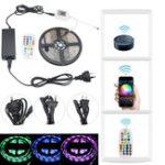 Оригинал 5M 5050 Водонепроницаемы Smart Wifi RGB 150 LED Strip Light Набор Для Alexa Echo Google US EU AU Plug DC12V