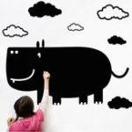 Оригинал ТворческийшарфRhinoчерныйboardПалкадля детской комнаты DIY Наклейка на стены